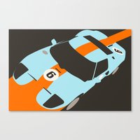 Orange Notch - Ford GT40… Canvas Print
