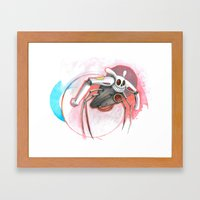 Attack Of The Bunny Bot Framed Art Print