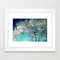 Ocean Blue  And White Da… Framed Art Print
