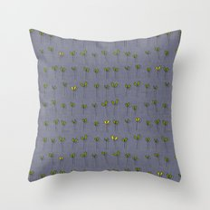 sprouts amethyst Throw Pillow