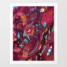 mash and sleep Art Print