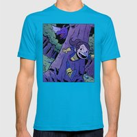 Run Kitty Run! Mens Fitted Tee Teal SMALL