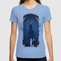 Brave Warriors Womens Fitted Tee Athletic Blue SMALL
