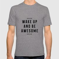 Be Awesome II Mens Fitted Tee Tri-Grey SMALL