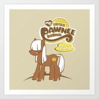 My Little Pawnee Art Print