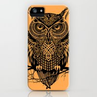 iPhone 5s & iPhone 5 Cases featuring Warrior Owl 2 by Rachel Caldwell