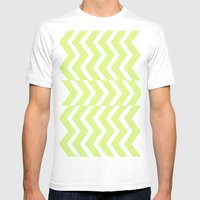 Chevron  Mens Fitted Tee White SMALL