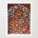 Russian cat  Art Print
