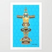RUFUS TOTEM Art Print