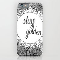 Stay Golden iPhone 6 Slim Case
