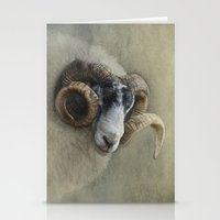 Dougal - A black faced Welsh ram Stationery Cards