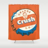 Denver's Orange Crush De… Shower Curtain