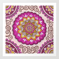 Star Blossom Mandala Art Print