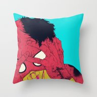 Throw Pillow featuring Thudd! by Boneface
