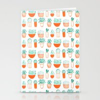 cacti pattern Stationery Cards
