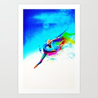 Olympic game gymnastic Art Print