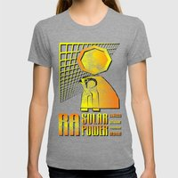 Ra Solar Power Womens Fitted Tee Tri-Grey SMALL