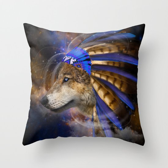 Fight For What You Love (Chief of Dreams: Wolf) Tribe Series Throw Pillow