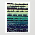 Tissue - Green Yellow Art Print