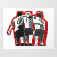 Feyenoord Rotterdam - Hand in hand kameraden Art Print