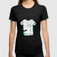 How to fold your shirt Womens Fitted Tee Tri-Black SMALL