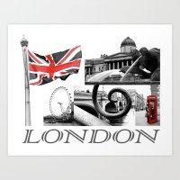 London Reds Art Print