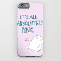 iPhone Cases featuring absolutely fine by rubyetc