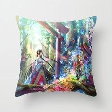 Rainbow Shrine Throw Pillow