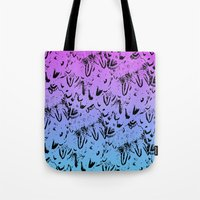 Ombre Feathers Tote Bag