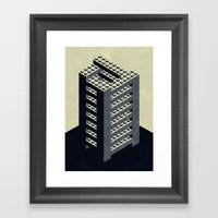The Impossible Tower Framed Art Print