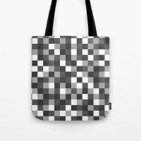 Colour Block Black and White Tote Bag