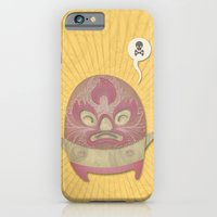 iPhone & iPod Case featuring Death Luchador by wanton doodle