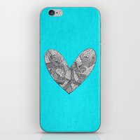 Patterned Heart iPhone & iPod Skin