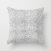 Polka Dot Rain Throw Pillow