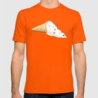 Ant Ski Mens Fitted Tee Orange SMALL