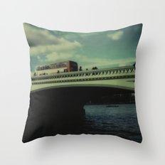 Westminster Bridge, Polaroid Throw Pillow