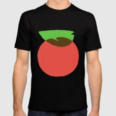 Apple 24 Mens Fitted Tee SMALL Black