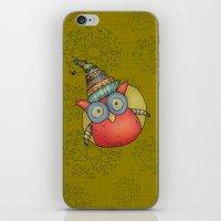 Puki Owl - mustard iPhone & iPod Skin