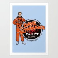 Dr. Dave Bowman's EVA Suits Art Print
