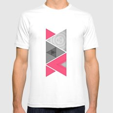 Optical illusion White SMALL Mens Fitted Tee