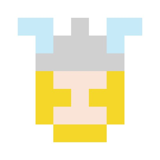 hero pixel flesh yellow grey Art Print