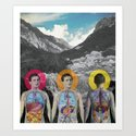 MOUNTAIN ANATOMY Art Print