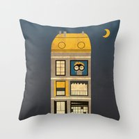 Night Spy Throw Pillow
