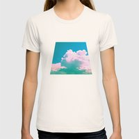 Cloudscape V Womens Fitted Tee Natural SMALL