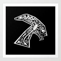 Celtic Xenomorph Art Print