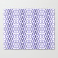 Canvas Print featuring Karthuizer Blue & White Pattern by Stoflab