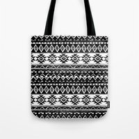 TRIBAL MONOCHROME Tote Bag