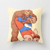 Gorilla Clutch Throw Pillow