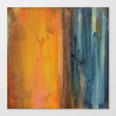 Blue and Orange - Textured Abstract Canvas Print