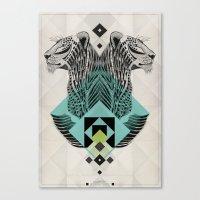 Blue Leopard Canvas Print
